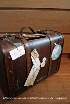 Valise ancienne pour tirelire de mariage Quelles astuces pour organiser votre mariage sur http://yesidomariage.com