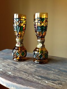 Vintage Sailboat Brand Oil Lamps Set of 2 Stain by StylishPiggy, $22.00