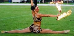 Jennifer Marcus has won multiple national & international baton twirling titles