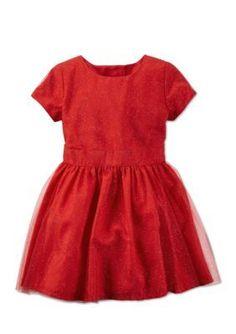 Carters  Short Sleeve Glitter Tulle Dress Toddler Girls