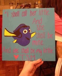 "Sorority Craft for My Little: ""I Shall Call Her Little and She Shall Be Mine. And She Shall Be My Little."" TSM"