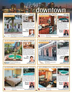 Want to experience downtown first hand? There are some great listings on our Living Downtown page in our New issue! Pick up your copy today at Rouses and Winn Dixie!