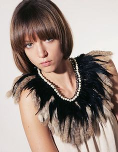 Daydream Nation Fur and Feather Collar - POPBEE