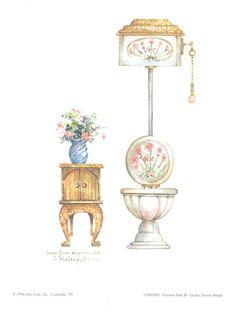 Victorian Bath III print $6.00