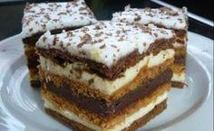 Chod: Zákusky a koláče - Page 11 of 254 - Mňamky-Recepty. Hungarian Desserts, Hungarian Recipes, Torte Cake, Sweet Cookies, Sweet And Salty, Homemade Cakes, Desert Recipes, Sweet Recipes, The Best