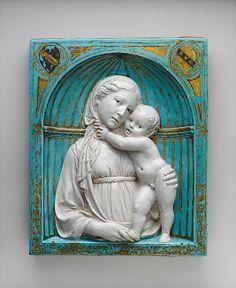 Virgen y el Niño en un nicho. Luca della Robbia (italiano, 1399/1400-1482 Florencia)