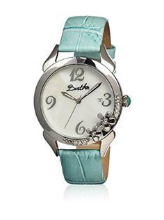 Reloj Bertha con movimiento de cuarzo japonés margarita azul 41 mm