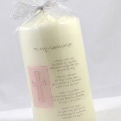personalised godparent gift candle with verse by a touch of verse | notonthehighstreet.com