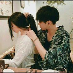 korean couple ulzzang kiss on the forehead Couple Goals, Cute Couples Goals, Mode Ulzzang, Ulzzang Girl, Korean Ulzzang, Ulzzang Fashion, Cute Relationship Goals, Cute Relationships, Couple Relationship
