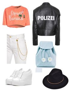 """#72"" by cecilie-monica-nrskov-pedersen on Polyvore featuring Vetements, Pierre Balmain and Sugarbaby"