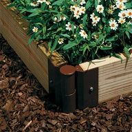 Designed with flexible hinged joints to enable you to build at any angle, these tough-as-nails joiners are just what you need for quick, successful, long-lasting beds and accent plantings!