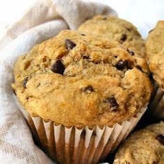 The Other Side of Fifty: Sourdough Banana Chocolate Chip Muffins