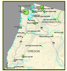 Pacific Northwest ....National Parks of Oregon and Washington.