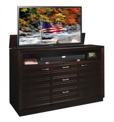 1000 Images About Made In The Usa Tv Lift Cabinet On