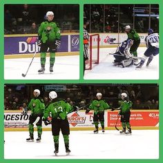 We are diggin the @barriecoltshockeyohl @barriecoltsofficial #green #hockey jerseys tonight in honour of #stpaddy day!…