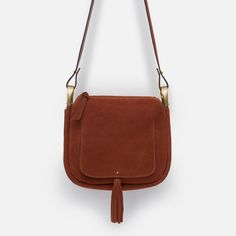 LEATHER TASSEL MESSENGER BAG-View all-Bags-WOMAN | ZARA United States