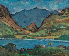 thorsteinulf:    Kyffin Williams - Snowdon from Llyn Nantle (c.1945)