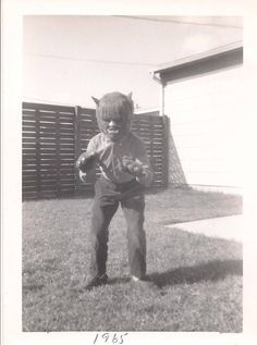 dressing up as wolfman (1965)