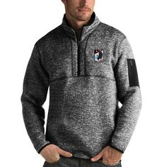 Minnesota United FC Antigua Fortune 1/4-Zip Pullover Jacket - Black