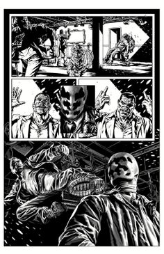 Bruises and Black Eyes, Rorschach page by Lee Bermejo