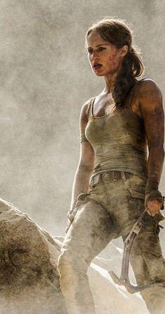 Alicia Vikander as Lara Croft in Tomb Raider! Tomb Raider Alicia Vikander, Alicia Vikander Lara Croft, Tomb Raider Full Movie, Tomb Raider 2018, Streaming Movies, Hd Movies, Movies Online, Hd Streaming, Movie Film
