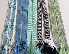 Check out Tablet Weaving Belt, Blue Loom woven belt, Folklore costume, Inkle Weaving belt, Gift for her, Celtic Belt, Wedding cummerbunds idea on blingscarves