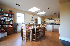 This image is of the main kitchen dining space in our Extension Project in Hamilton.