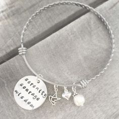 Serenity prayer pendant sterling silver heart serenity prayer serenity prayer bracelet serenity courage wisdom bracelet recovery bracelet expandable hand stamped serenity prayer jewelry free ship mozeypictures Images