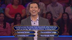 Thursday, it's the first #MillionaireTV of the #HappyNewYear. And David Hall is going to #Graceland for this #Elvis question. Will the correct #FinalAnswer leave him all shook up with cash? Host Terry Crews welcomes you to check out Thursday's show. Go to www.millionairetv.com for local time and channel to watch!