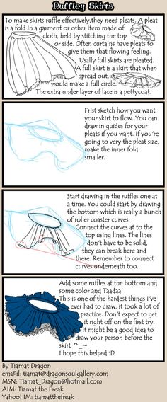 How to draw cute ruffly skirts by tutorial.deviantart.com on @deviantART