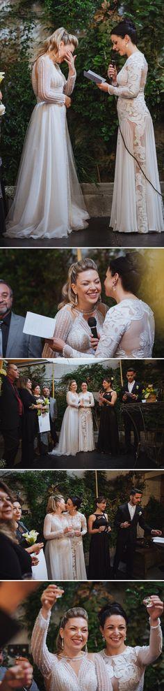Ori and Shani   Urban-Chic Jewish lesbian wedding at Avigdor 22, Tel Aviv, Israel
