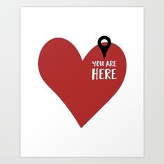 YOU ARE HERE IN MY HEART love valentines day quote - You are right here where you belong, and that is in my heart. This to show a special someone that they are always in your heart. graphic-design digital typography illustration vector heart love you-are-here valentine valentines-day quote boyfriend girlfriend relationship cute