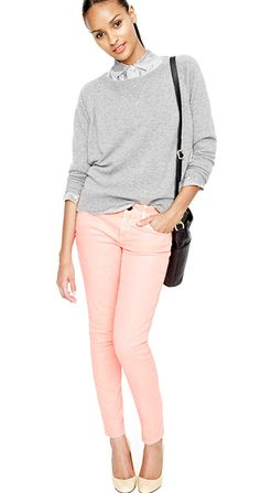 Pink skinny jeans. The only ones i would wear :)