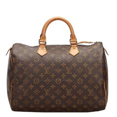 Pre-Owned Louis Vuitton Monogram Canvas Speedy 35 Bag In Brown Pre Owned Louis Vuitton, Louis Vuitton Speedy Bag, Monogram Canvas, Speedy 35, Michael Phelps, Brown Bags, World Of Fashion, Bag Making, Luxury Branding