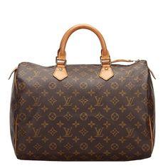 Pre-Owned Louis Vuitton Monogram Canvas Speedy 35 Bag In Brown Pre Owned Louis Vuitton, Louis Vuitton Speedy Bag, Speedy 35, Michael Phelps, Brown Bags, Monogram Canvas, World Of Fashion, Bag Making, Luxury Branding