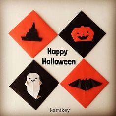ハロウィンの飾りに使える♪子供と一緒に作りたい折り紙キャラが可愛い! | CRASIA(クラシア) Holidays Halloween, Halloween Diy, Happy Halloween, Diy And Crafts, Paper Crafts, Tatting, Origami, Kids, Children