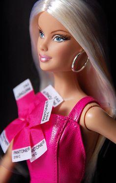 Barbie Pink in Pantone  one of my favorite dolls