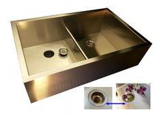 Apron Front Double Bowl Kitchen Sink - Low Divide A0DB33 ...