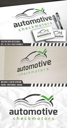 Car Check Logo — Vector EPS #speed logo #automotive logo • Available here → https://graphicriver.net/item/car-check-logo/12491766?ref=pxcr