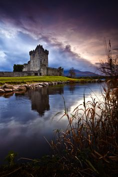 A really beautiful shot taken as evening closes in on Ross Castle in Killarney Co. Kerry Ireland