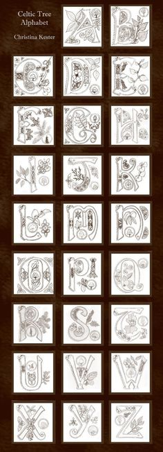 Celtic Alphabet by ladyfireoak
