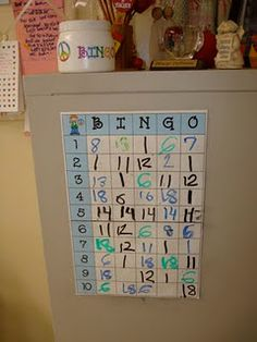 "Behavior Management - when a student is ""caught"" being good, turned something in early, having an exceptional day, ect. you let them place their name/number in a BINGO square. At the end of the day, you pick a letter and number and that students gets a prize."