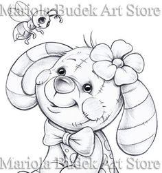 This Bee Mariola Budek Coloring Page is just one of the custom, handmade pieces you'll find in our digital prints shops.