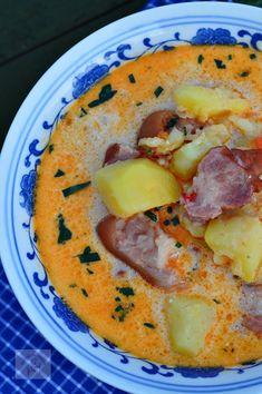 Ciorba de cartofi cu afumatura si tarhon - CAIETUL CU RETETE Hummus, Soups, Ethnic Recipes, Food, Essen, Soup, Meals, Yemek, Eten