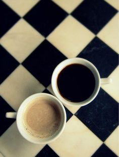 Coffee, for those who take it with cream/milk and those who take it black