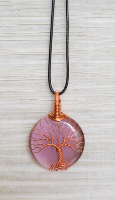Copper Wire Wrap Tree of Life pendant by RecycledBeautifully