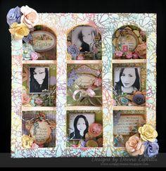 Altered wooden birdhouse using Secret Garden 6x6 paper pad  #graphic45 #mixedmedia #alteredart