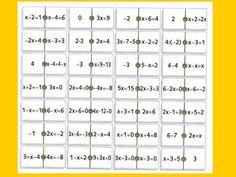dominó de ecuaciones muy sencillas