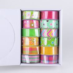 Spring Ribbon Assorted Color ( 1-1/2 Inch - 12 Rolls ) - JS14903