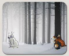Calvin and Hobbes snow zombies cartoon comic strip kids by KieSArt